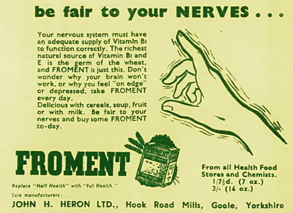John H. Heron Ltd prétend que son produit «Froment» apaise d'éventuels symptômes neurologiques